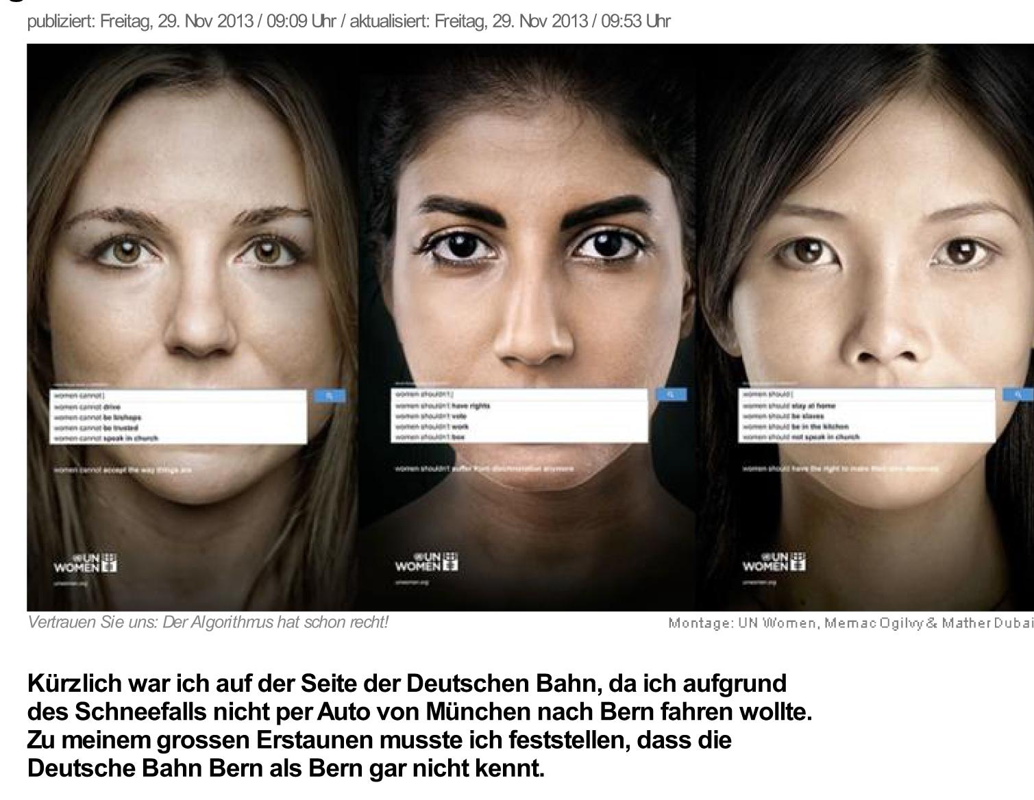news.ch - «Der Prozess» oder: «Wenn Google Sexismus vervollst