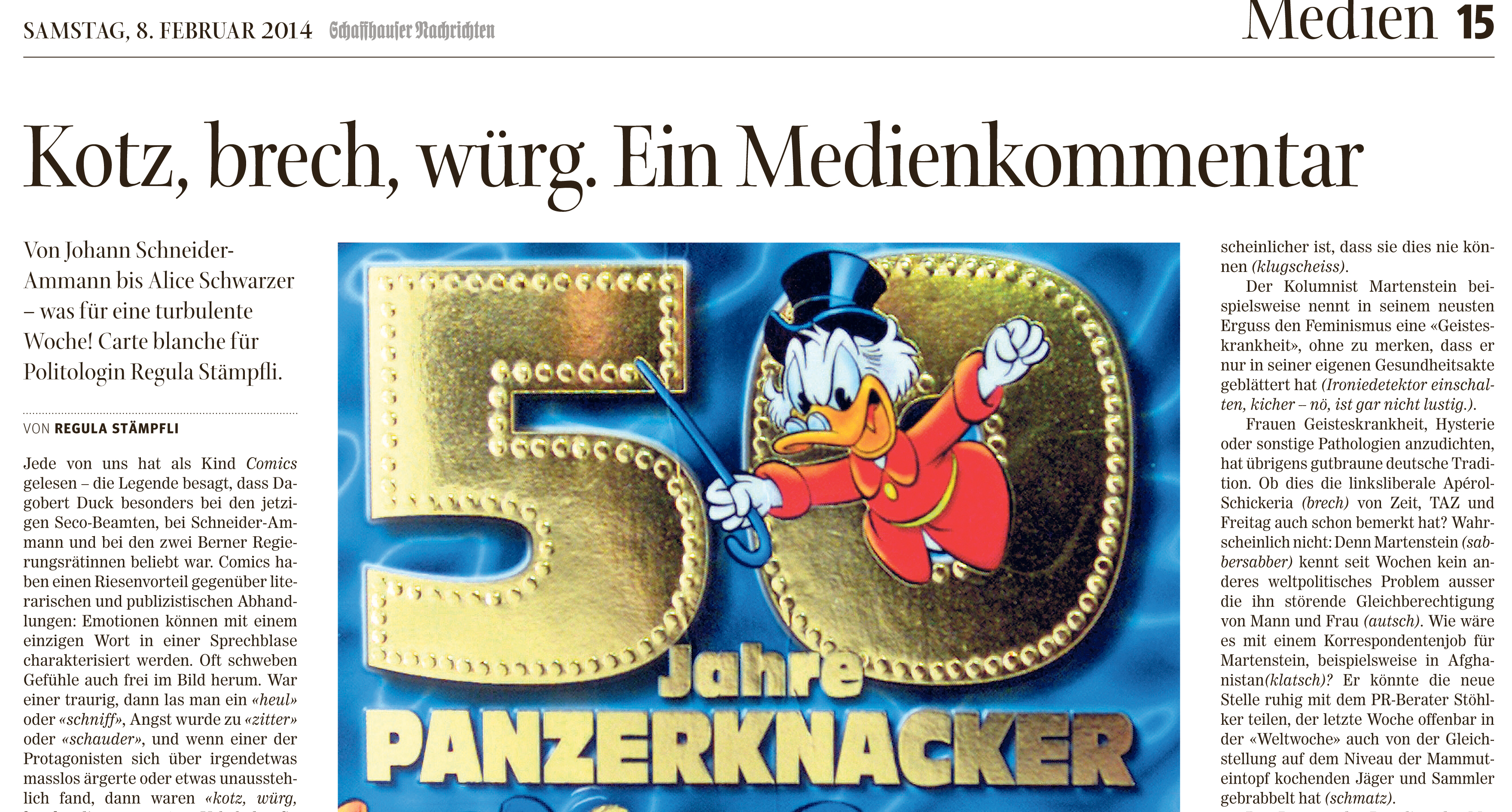 Schaffhauser Nachrichten 8.2.14