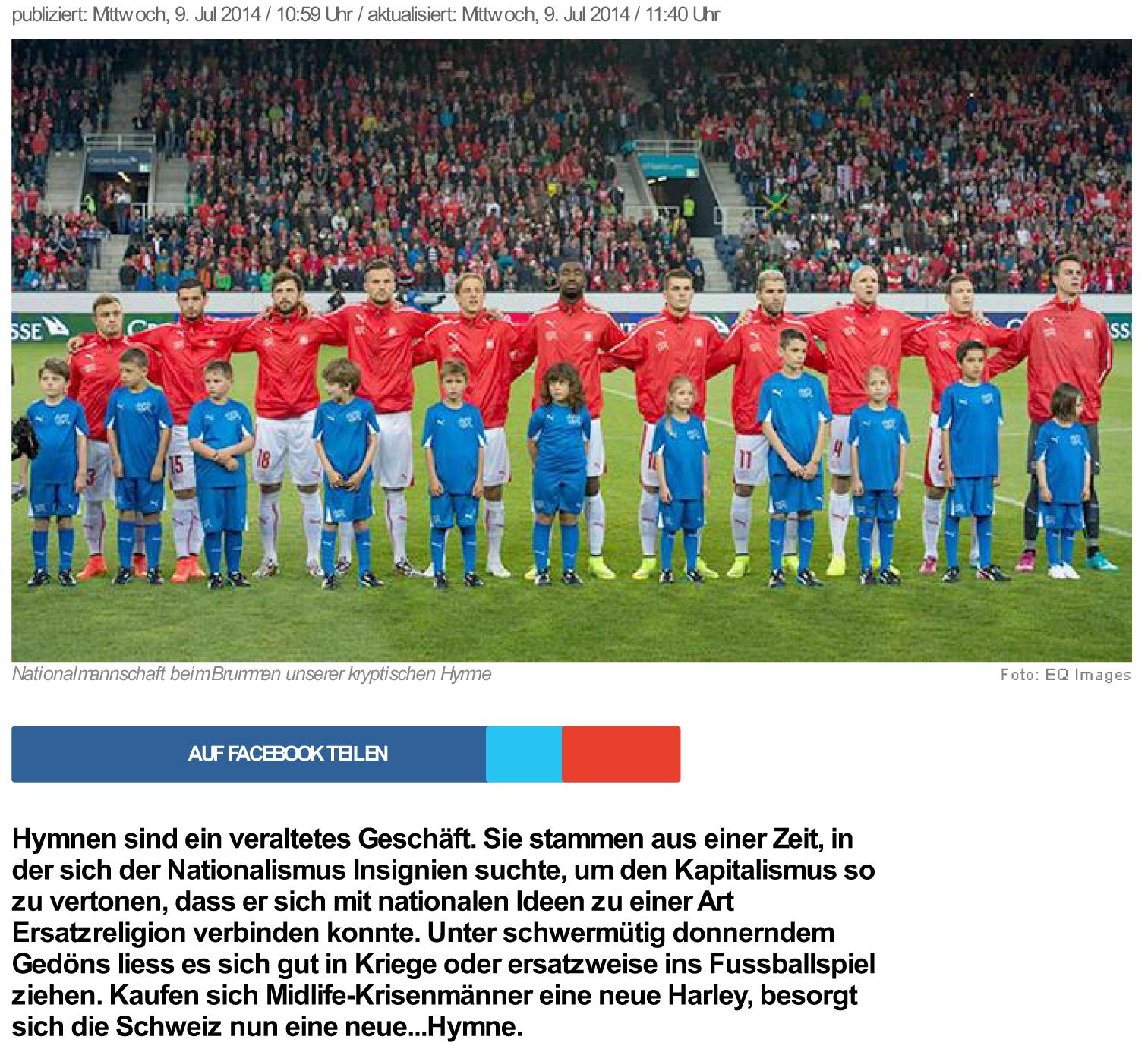 news.ch - Fussballtaugliches Jodeln . Von Regula Stämpfli - Dsc
