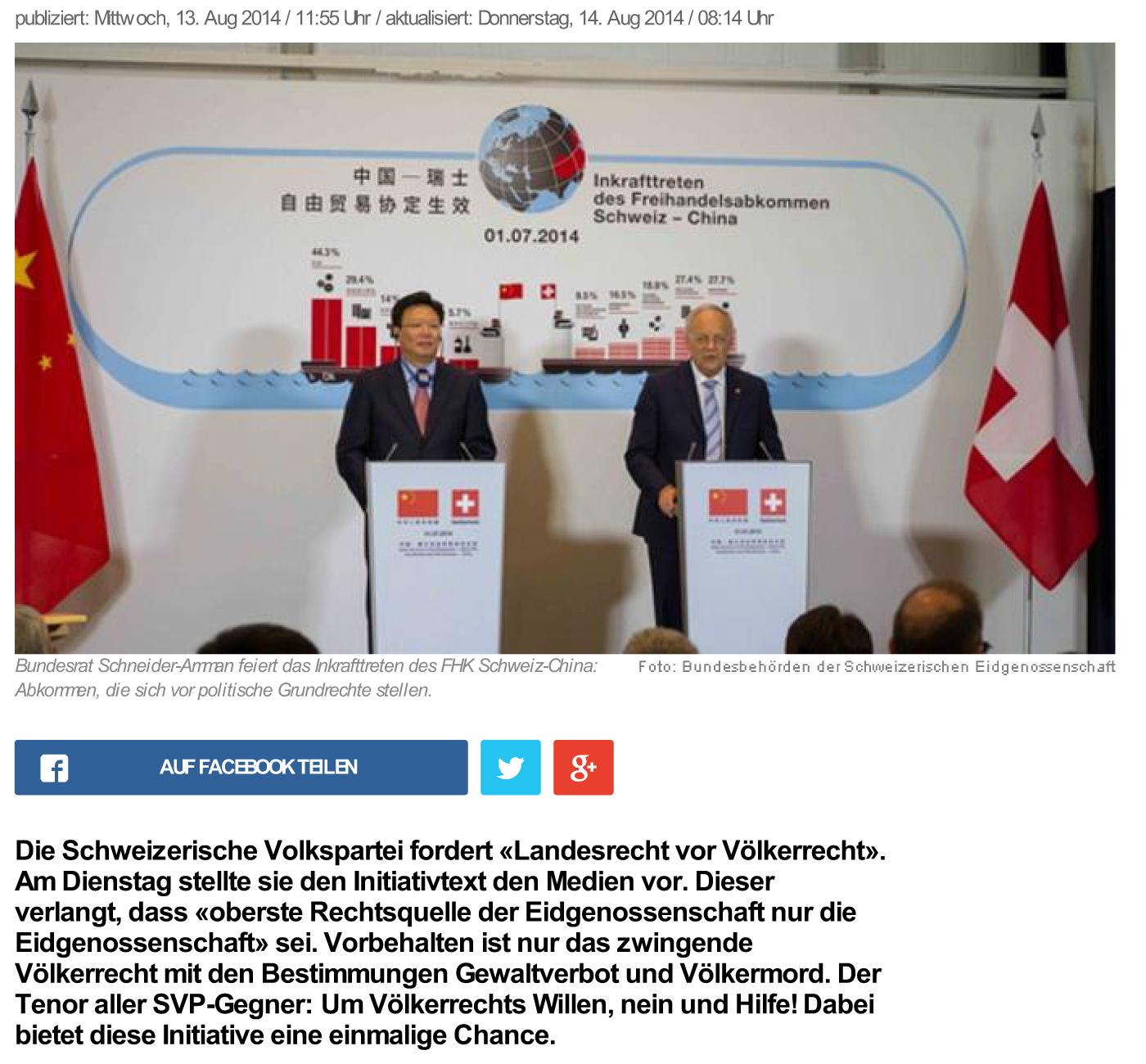 news.ch - Landesrecht vor Freihandel. Von Regula Stämpfli - Dsc