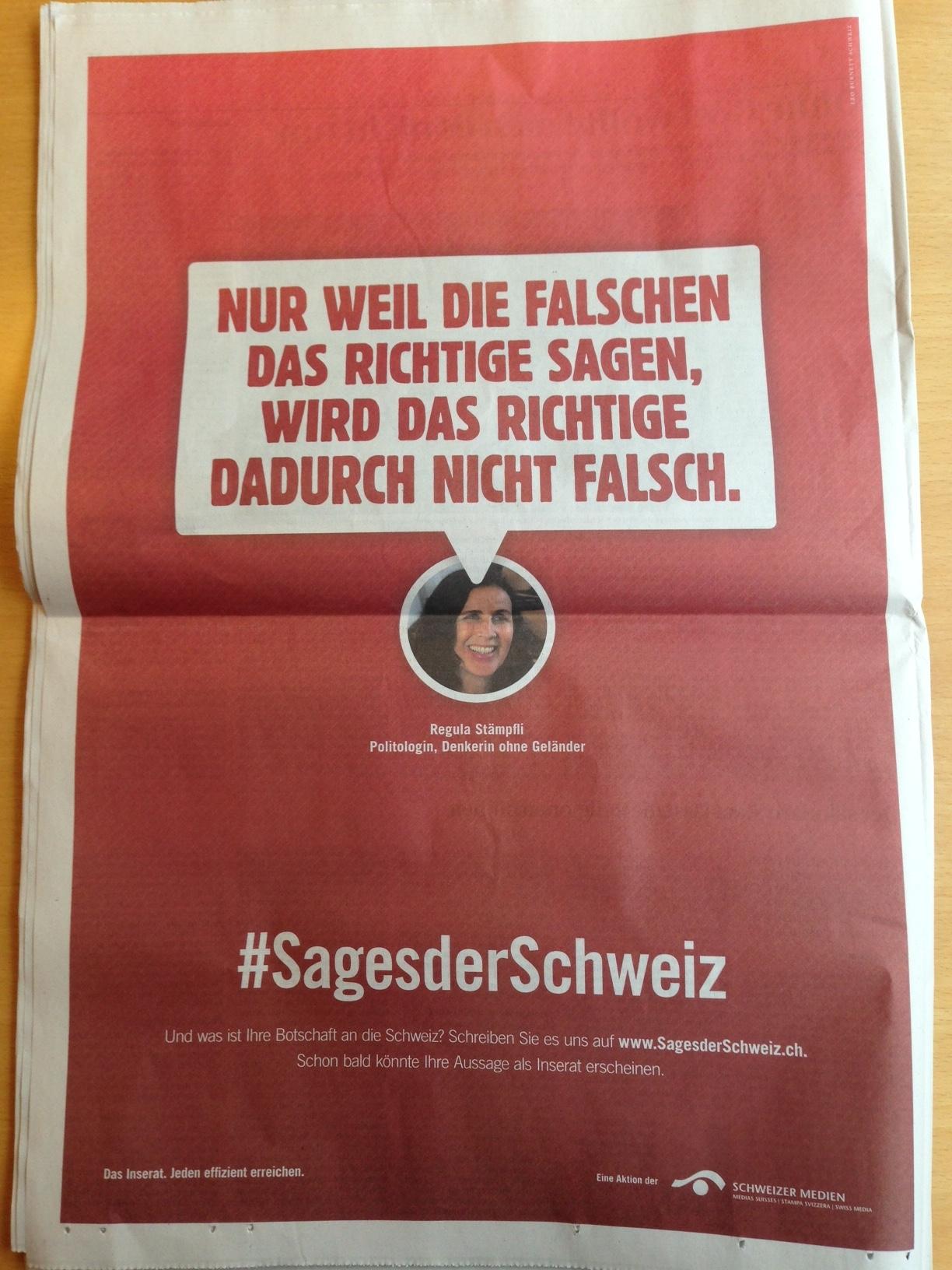 #SagesderSchweiz TA Sujet