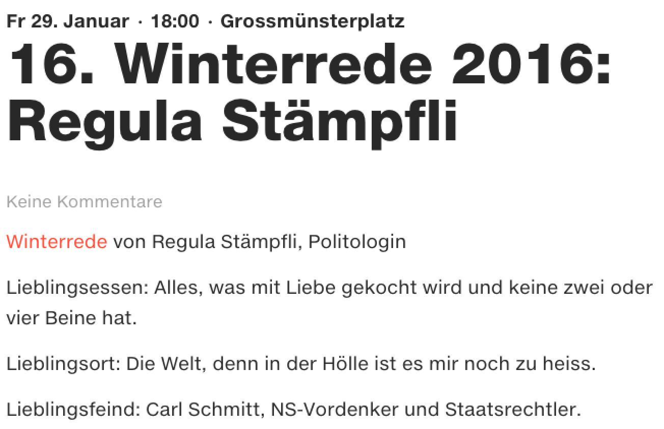 Karl der Grosse Winterrede