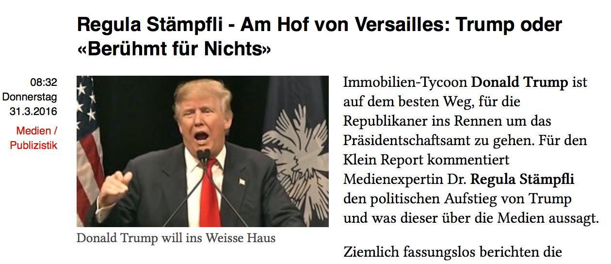 Klein report 31.3.16