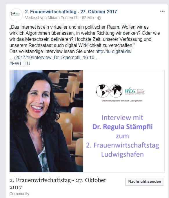 Vorschau Post Dr. Regula Stämpfli